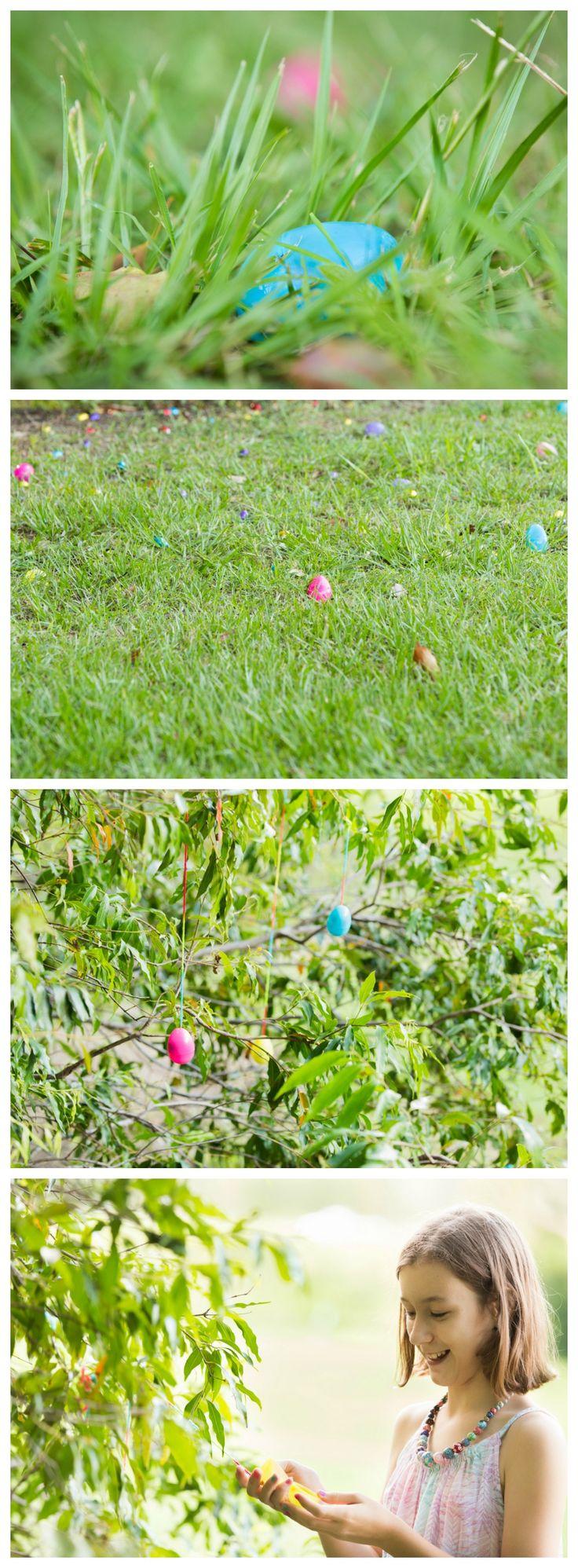 Easter Egg Hunt idea - Make an Egg Tree