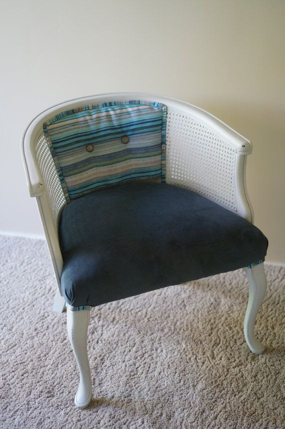 $375. Vintage Cane Barrel Chair by ChairMyHeart on Etsy