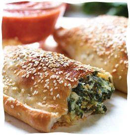 spinach calzones - shavout dairy recipe