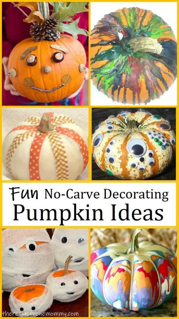 15 Simple No Carve Pumpkins The Whole Family Will Enjoy Pumpkin Carving Craft Activities For Kids Pumpkin Decorating