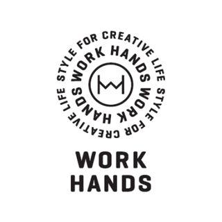 WORK HANDS(ワークハンズ)のロゴマーク。 ビームスと東急ハンズがコラボし、今年の10月上旬より展開さ