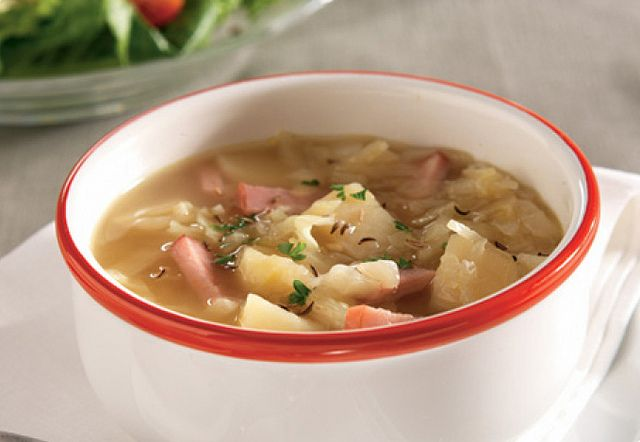 Ham, Potato and Cabbage Soup recipe