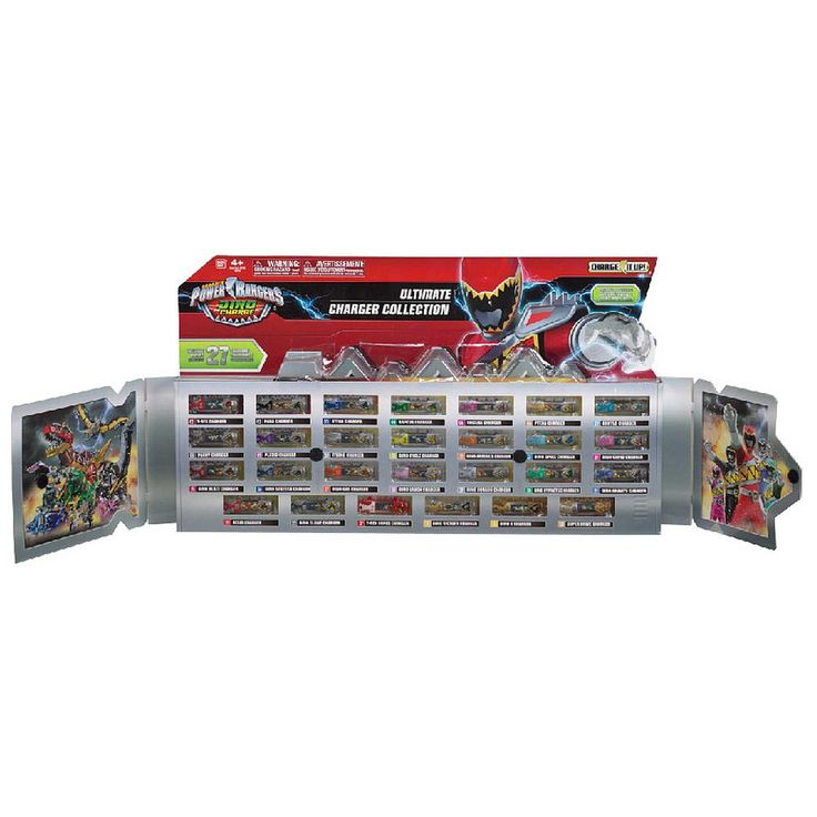 "Includes all 27 show accurate Dino Chargers. Metallic deco finish. Partial window box that opens / closes like a book.<br><br>Calling all Power Rangers! Gear up to battle monsters from across the galaxy with our wide selection of toys, electronics, games, movies, and accessories. You can find all that you need and more in our <a href=""http://www.toysrus.com/family/index.jsp?categoryId=11194092&sr=1&origkw=power%20rangers""><b>Power Rangers Shop</b></a> at Toys R Us!"