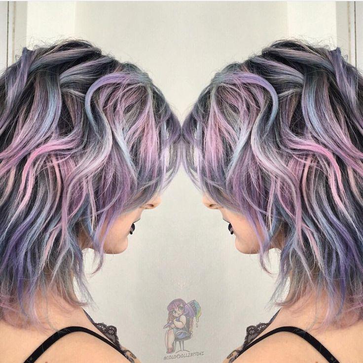 Metallic pastel rainbow hair by @colordollz Toni Rose Larson hotonbeauty