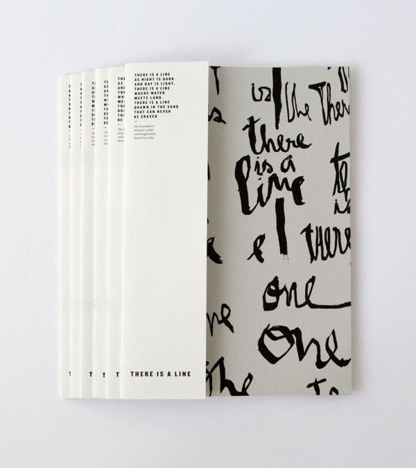 there is a line book by sara westermann, via behance.