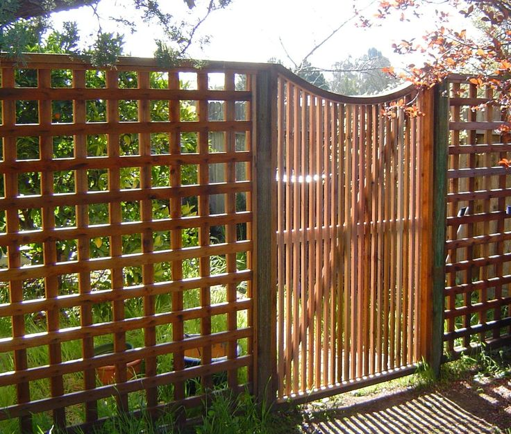 Wood Lattice Ideas: Lattice Fence With A Picket Fence By Arbor Fence, Inc