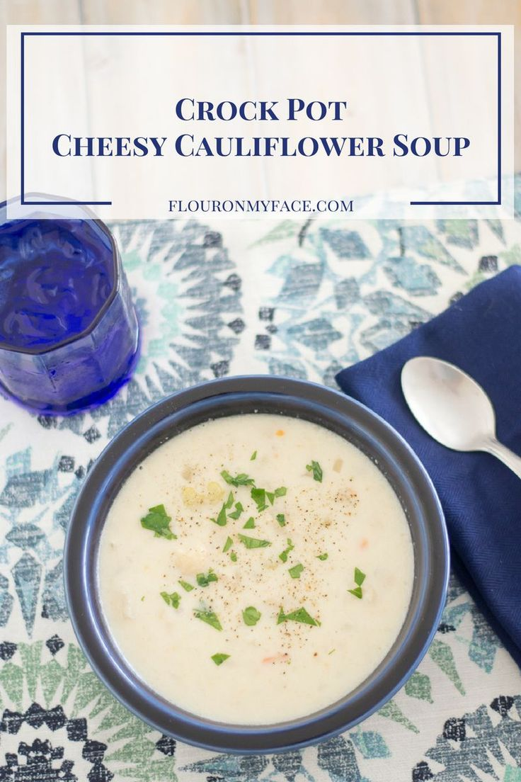 You know what I love I love about this Crock Pot Cheesy Cauliflower Soup recipe? One it is so delicious, two it is so easy to make and three it is low carb.
