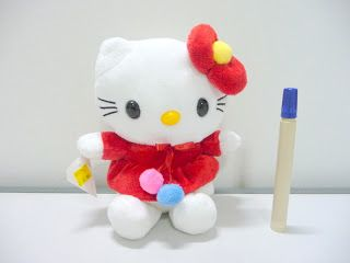 Boneka hello kitty red bow lucu