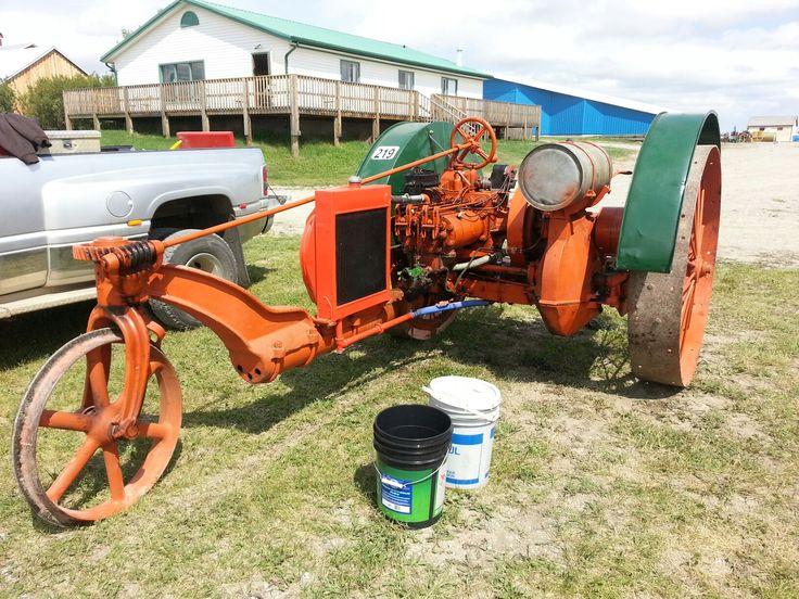 Happy Farmer tractor at Heritage acres, Pincher Creek, Alberta