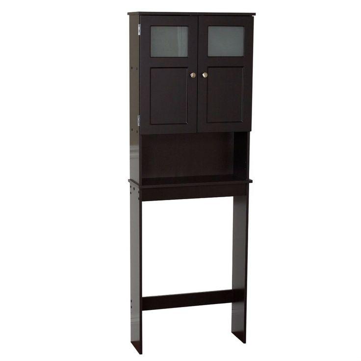 Espresso Bathroom Storage Unit Cabinet for Over the Toilet