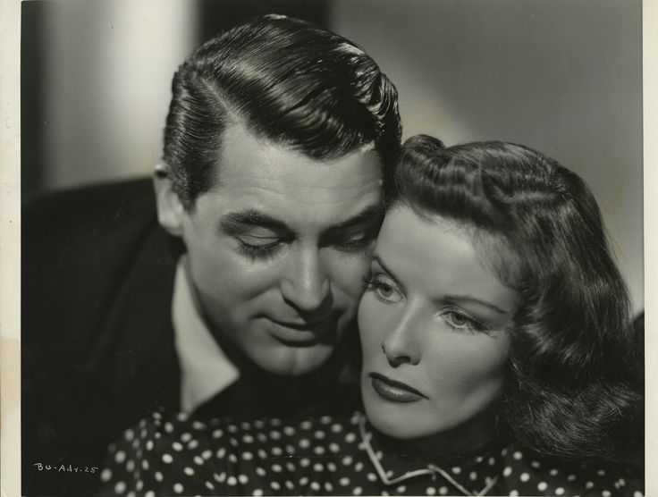 Cary Grant and Katharine Hepburn for Bringing Up Baby directed by Howard Hawks, 1938