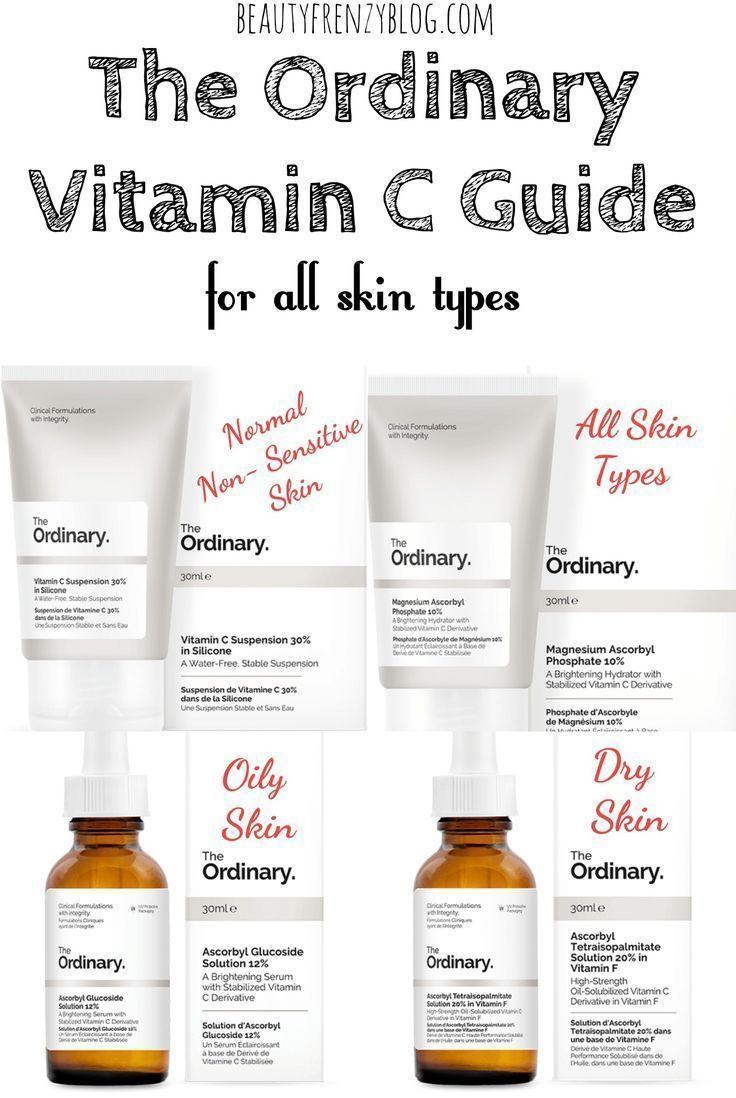 The Ordinary Vitamin C Guide For All Skin Types Theordinary Vitaminc Theordinaryvitaminc Theor The Ordinary Vitamin C Guide Dry Oily Skin Beauty Skin Care