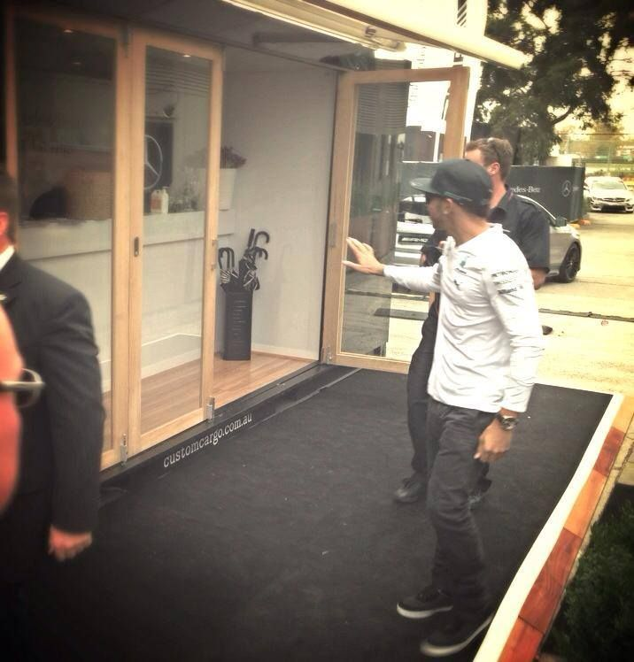 #MBStarLounge #CustomCargo Yes thanks Lewis Hamilton, that is a nice container!