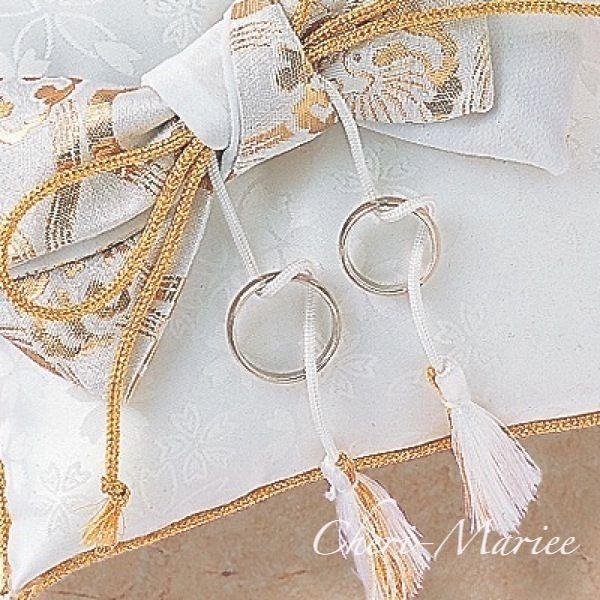 #4493:ロマンティックリングピロー 和風スクエア 手作りキット<シェリーマリエ・リングピローコーナー>