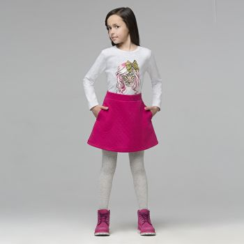 Трикотажная юбка для девочки, цвет фуксия