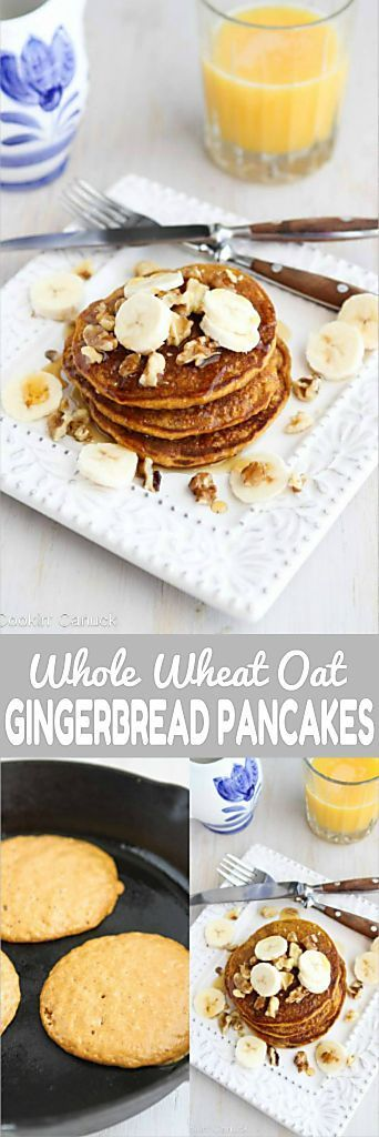 Sunday brunch or a holiday breakfast, these Whole Wheat Gingerbread Pumpkin Pancakes are perfectly spiced and positively addictive! 136 calories and 4 Weight Watchers Freestyle SP