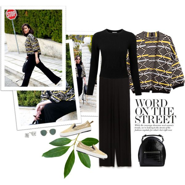 A fashion look from March 2016 by stellaasteria featuring Pure Collection, H&M, Zara, MSGM and Ray-Ban