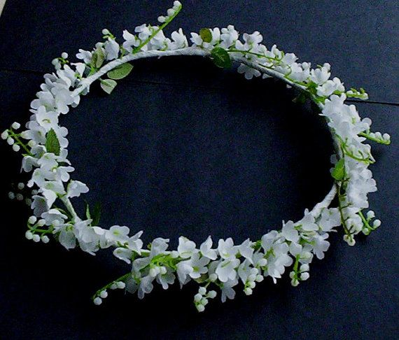 Wedding Flower Crown Lilly of the Valley Bridal Halo by AmoreBride, $42.00