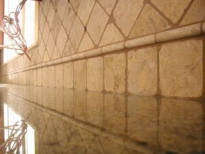Travertine Backsplash | Travertine backsplash | For the Home
