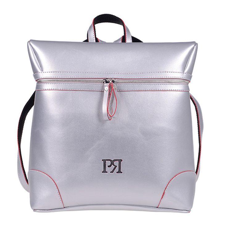 ΤΣΑΝΤΑ PIERRO 00172 ΑΣΗΜΙ   Σακίδιο πλάτης με φερμουάρ και εξωτερική πίσω τσέπη.  Ύψος35  Πλάτος32