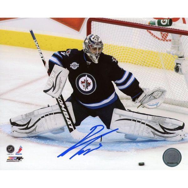 """Ondrej Pavelec Winnipeg Jets Fanatics Authentic Autographed 8"""" x 10"""" Making Save Photograph - $59.99"""