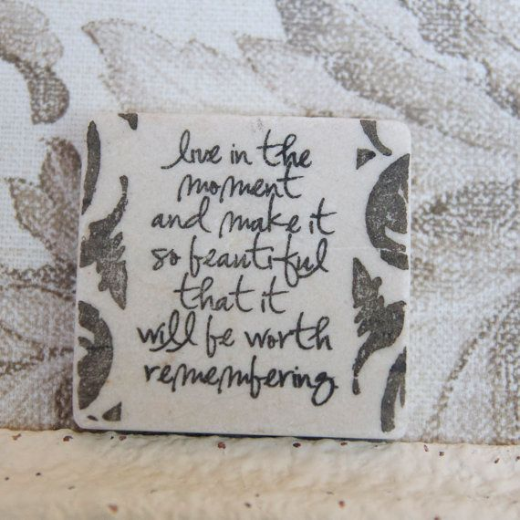 Live in the Moment Quote Wedding Favors  Custom by AccentsbyAustin, $5.00