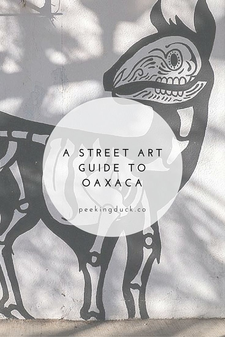 A street art guide to Oaxaca, Mexico.
