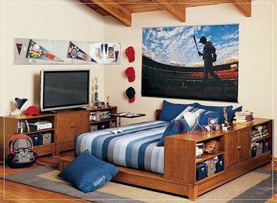 Ideas de Diseño de Dormitorios para Chicos Adolescentes : Decorar Decoración