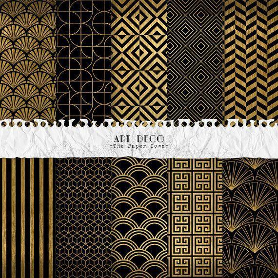Art Deco Pattern Clip Art K12996789 Fotosearch