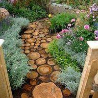 Ogród - Pomysły do ogrodu - dekoracyjna ścieżka
