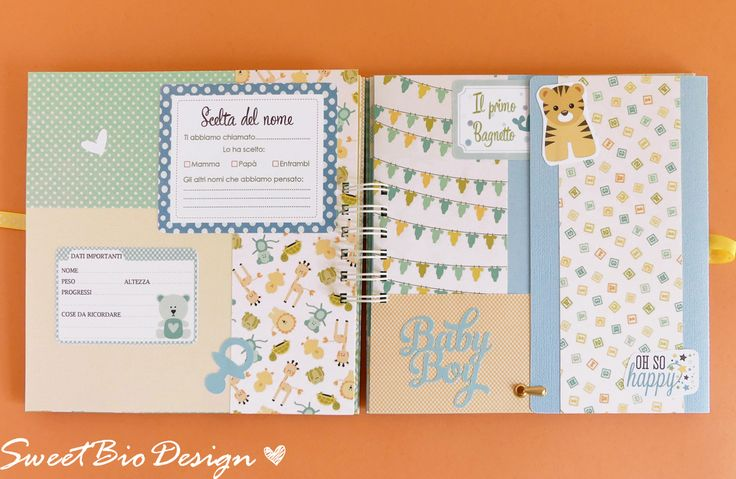 Sweet Bio design: Album Bimbo colori Tenui - Baby Boy soft colors Album