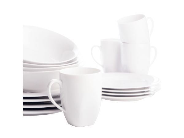 Maxwell & Williams Soho Dinner Set, 16 Piece - Whether you're starting up your first home, or improving on something old, the best place to start is a set. Made from quality materials, in classic, modern lines, with everything you need to get started, Maxwell & Williams is the way to go to bring your home to life.