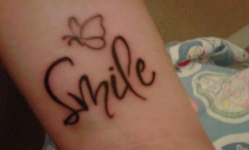 Smile tattoo images   ... smile tattoos quotes about life tattoos tattoo designs tattoo pictures