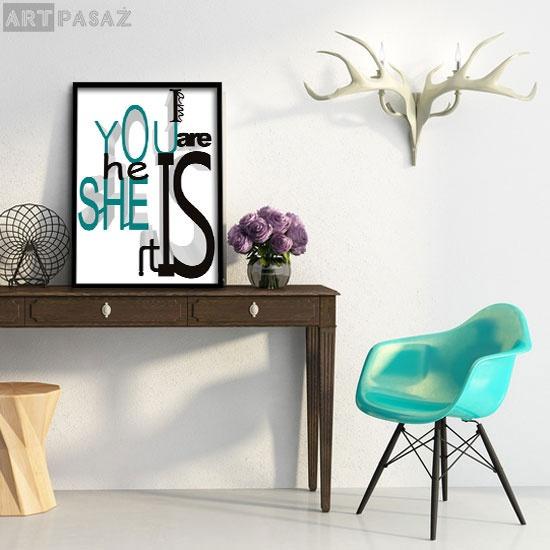 plakat turkusowy