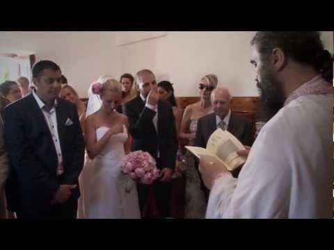 #Romantic #greek #wedding on #Santorini  Santorini Wedding Video - Alexandros & Jennie - Rocabela hotel - YouTube