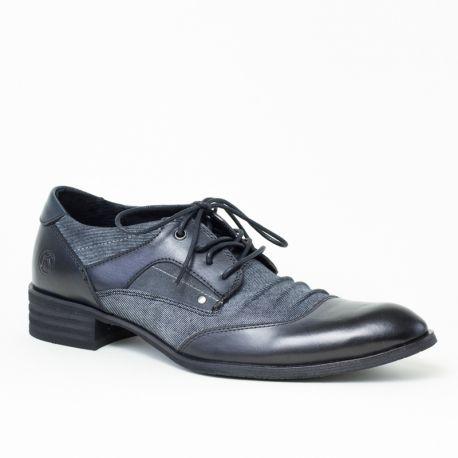 Chaussures de ville homme Lyon Noir Kdopa Derbies pour homme de marque  Kdopa, modèel Lyon