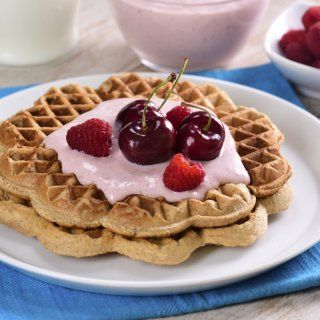 Waffles Integrales con Yoghurt