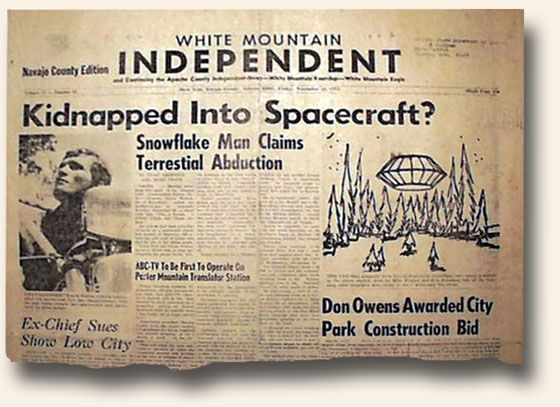 They put it in print… the best UFO alien abduction newspaper ever ...