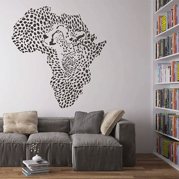 ik2889 Wall Decal Sticker Mainland Africa Cheetah character living room bedroom