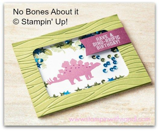 Stampin Up No Bones About It Shaker Card www.stampinwithsandi.com