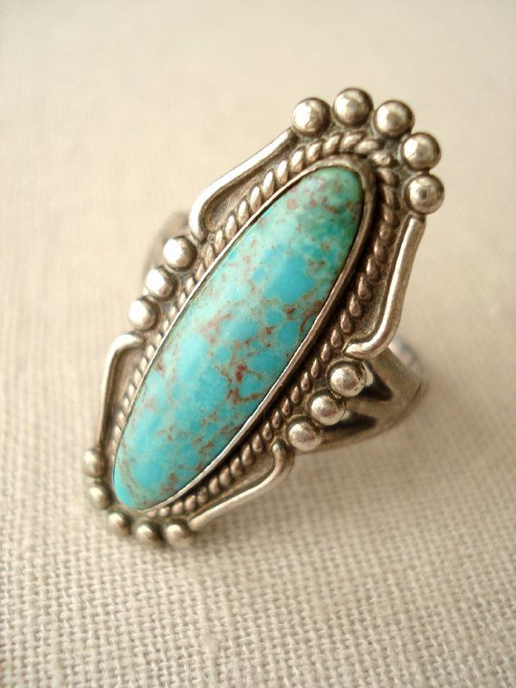 Vintage Bell Trading Post Turquoise and Sterling by HazyDayStudio