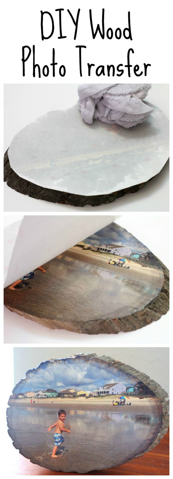DIY Wood Slice Photo Transfer