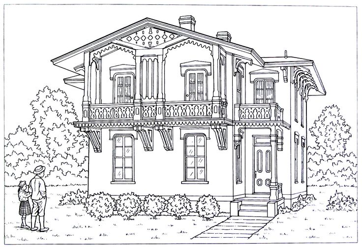 20 best Victorian Houses Coloring Book Pages images on Pinterest ...