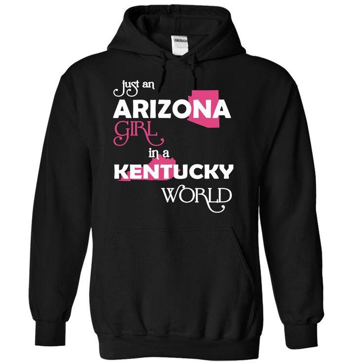 Best gift - (Arizona001) Just An Arizona Girl In A Kentucky World T-shirt/mug BLACK/NAVY/PINK/WHITE M/L/XL/XXL/3XL/4XL/5XL
