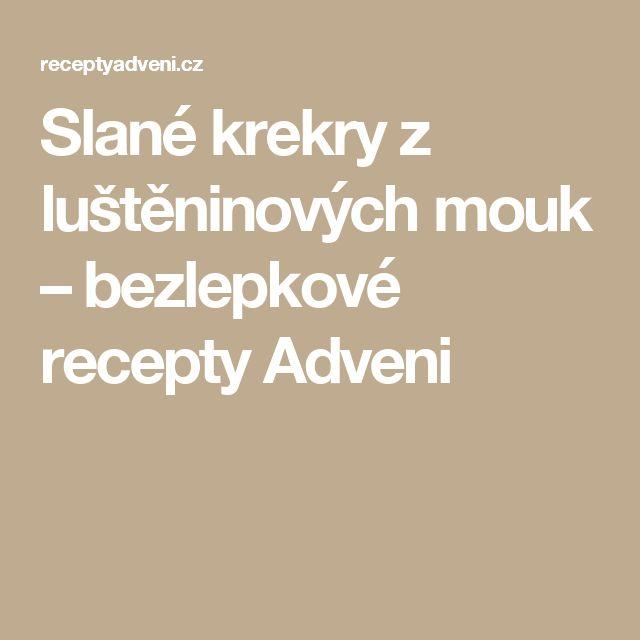 Slané krekry z luštěninových mouk – bezlepkové recepty Adveni