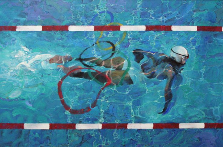 Swimmer by Robert Heindel