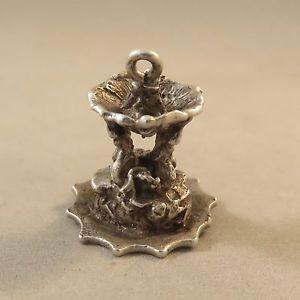 VINTAGE Silver 3-D TEMPLE OF VESTA FOUNTAIN CHARM Tivoli Roman Forum Italy VT92D    eBay