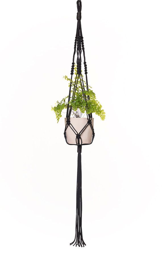 Macrame Plant Hanger / Hanging Basket / Pot Hanger / Plant Holder / Hanging Planter - The Gloria