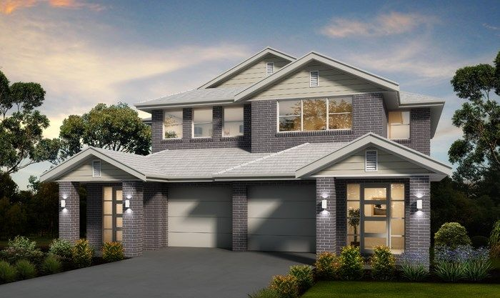 Single duplex double storey house designs masterton Duplex floor plans with double garage