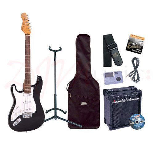 encore e6 left handed black guitar pack the encore blaster e6 electric guitar packs include. Black Bedroom Furniture Sets. Home Design Ideas